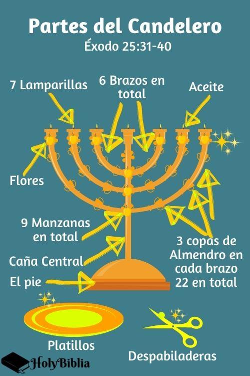 Partes del candelero en la Biblia